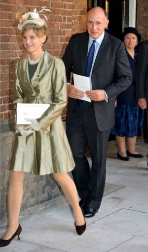 William and Kate former private secretary and George godfather Jamie Lowther-Pinkerton with his wife.jpg