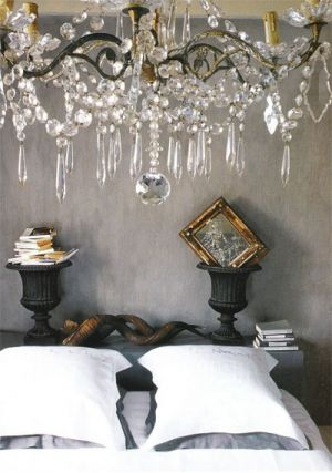 Bedroom with chandelier - Glamorous chandelier - mylusciouslife.com.jpg