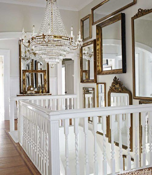 Beautiful chandelier over staircase via mylusciouslife.jpg