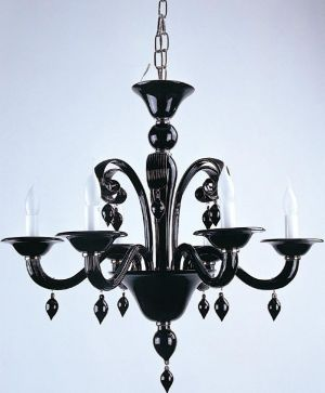 sophisticated chandeliers - mylusciouslife.com - Black Glass Chandelier.jpg
