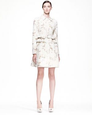 Alexander McQueen cream-sand pleated-back coat dress.jpg