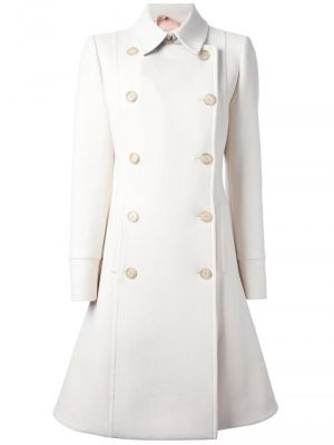 No 21 ivory flared hem trench coat.jpg