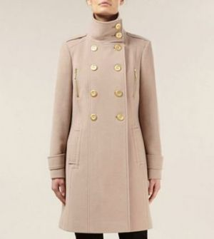 Planet nude blonde mid-length wool military coat.jpg