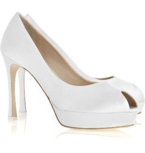 Yves Saint Laurent white Palais satin peep-toe pumps.jpg