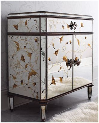 ... Glam Furniture   Mirrored Dressers   Diy Mirrored Furniture   Horchow  Autumn Mirrored Chest ...