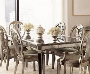 ... Ideas For A Stylish Home   Mirrored Furniture Dining   Mirrored Dining  Table.