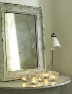 Decorating with mirrors - www.myLusciousLife.com - Beautiful mirror and candles.jpg