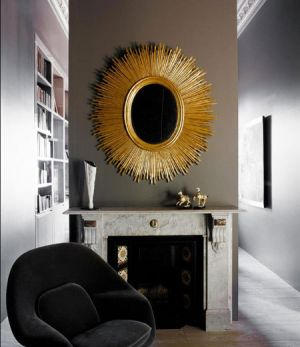 Mirror decoration - www.myLusciousLife.com - Gold sunshine mirror.jpg
