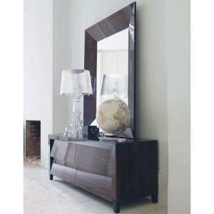 Mirror decoration - www.myLusciousLife.com - Macassar Slant Giant Mirror and cabinet.jpg