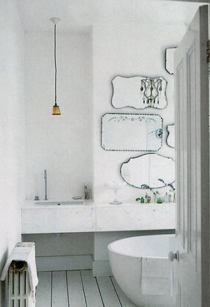 Mirror decoration - www.myLusciousLife.com - mirrored bathroom with multiple mirrors.jpg