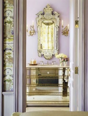 mirrored furniture - Decorating with mirrors - www.myLusciousLife.com.jpg