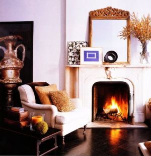 Beautiful fireplaces - Fireplace hearth - trey laird townhouse.jpg