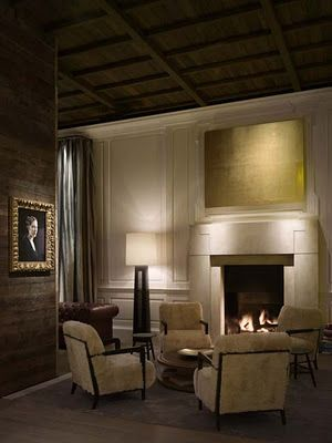Designing a fireplace - The fireplace - Public Hotel Chicago Ian Schrager.jpg