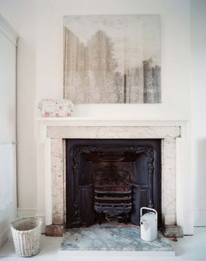 The fireplace - trimmed marble fireplace lonny.jpg