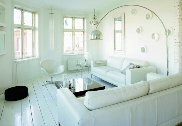 Stylish home all white interiors - Decoraciones de interiores de casas ...