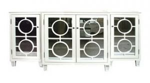 White interiors - www.myLusciousLife.com - Ava Circle Mirrored Buffet.jpg
