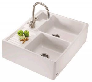 White interiors - www.myLusciousLife.com - Double farmhouse sink.jpg