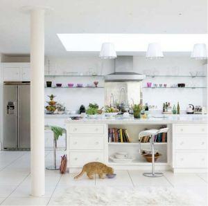 White Interiors stylish home: all white interiors