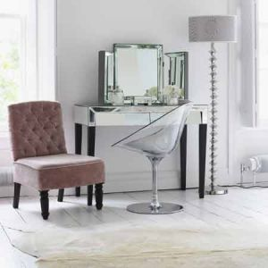 Pink interior design - myLusciousLife.com - 50s Style Mirrored Desk.jpg