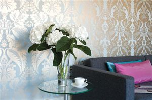 Pink interior design - myLusciousLife.com - Anna French wallpaper.jpg