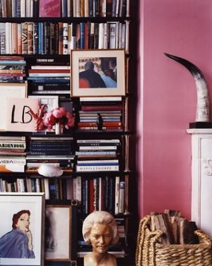 pink decor - myLusciousLife.com - miles-reed_books-with-pink-walls.jpg