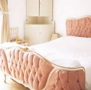 pink decorating ideas - myLusciousLife.com - pretty in pink luscious bed frame.jpg