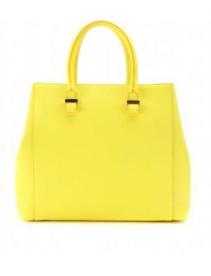 Victoria Beckham - Acid-yellow Liberty Leather Shopper.jpg