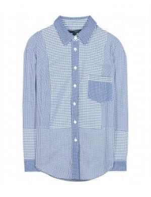 Victoria Beckham - Blue And White Printed Cotton Shirt.jpg