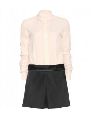 Victoria Beckham - Dress With Oyster Button-down And Black Skirt.jpg