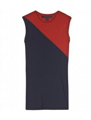 Victoria Beckham - Jersey Bordeaux And Navy Tank Top.jpg