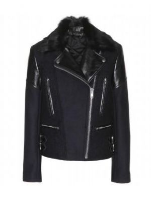 Victoria Beckham - Leather-trimmed Wool-blend Jacket With Fur Collar.jpg