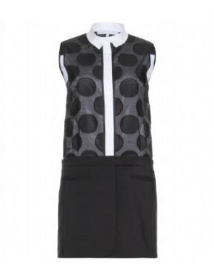 Victoria Beckham - Tailored Mini Dress With Polka-dot Top.jpg