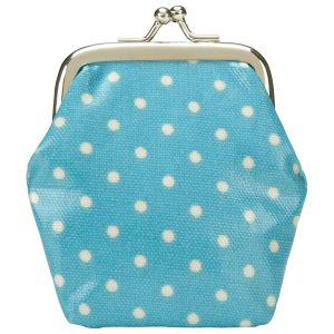 Gifts - Cath Kidston Dot Clasp Purse Blue.jpg