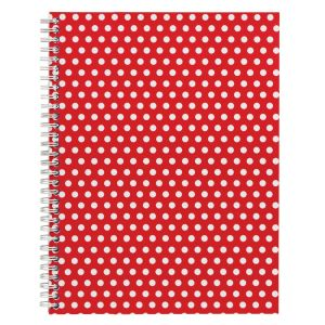John Lewis Polka Dot Notebook - red and white dots.jpg