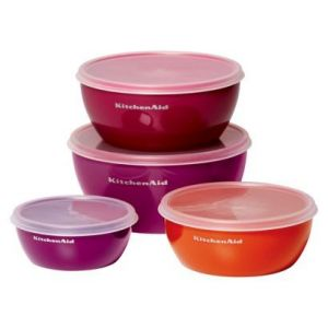 Gifts for men - KitchenAid 4 Piece Polypropylene Preparation Bowl Set with Lids.jpg