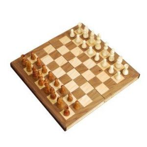 Walnut Veneer Folding Chess Set with Magnetic Closure.jpg