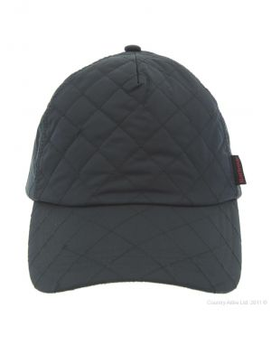 Gifts for men - Barbour Mens Nylon Quilted Baseball Cap - Navy.jpg