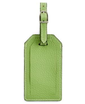 Gifts for men - Green PB Travel Leather Luggage Tag.jpg