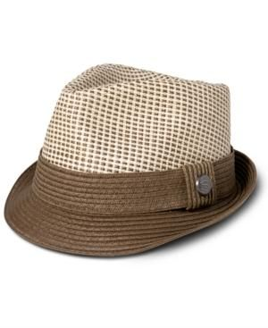 Gifts for men - Sean John Hats Braided Straw Brim Fedora.jpg