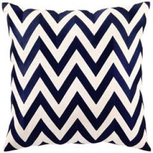 Gifts for men - DL Rhein Zig Zag Navy Embroidered Pillow.jpg