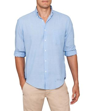 Gifts for men - Gant Rugger Madras Blue Capri Shirt Classic Blue.jpg