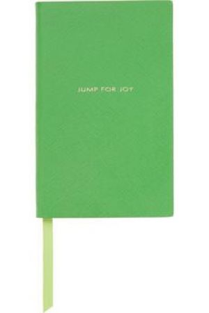 Gifts for men - Jump For Joy textured-leather notebook green.jpg