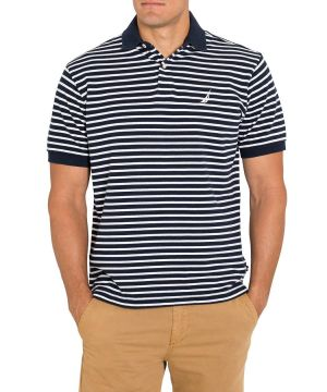 Gifts for men - Polo Shirts Nautica Cotton Navy Stripe.jpg