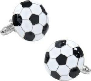 Gifts for men - Soccer Ball Cufflinks - Black White.jpg