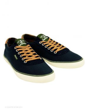 Gifts for men - navy Barbour Mens Valiant Pumps.jpg