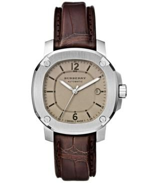 Burberry Watch - Mens Swiss Automatic - The Britain Dark Brown Alligator Leather Strap.jpg