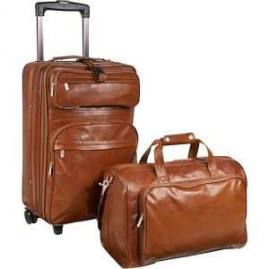 Gifts - AmeriLeather Leather Carry-on Luggage Set - Brown.jpg