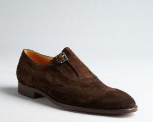 Gifts - Hermes mocha suede wingtip buckle oxfords.jpg