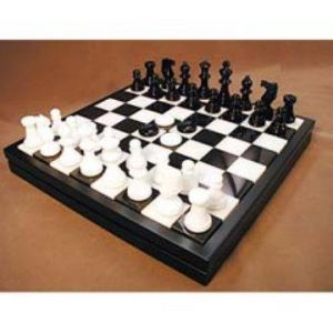 ... Gifts for men - Black Alabaster Chess & Checkers ...