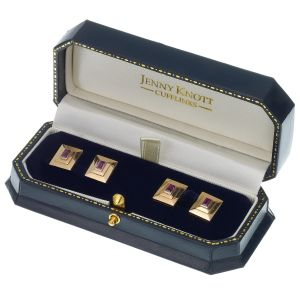 Gifts for men - Jenny Knott 18 Carat Gold Ruby Cufflinks.jpg